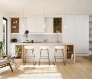 Theo đó, phong cách thiết kế tối giản chỉ bố trí những vật cần thiết cho sinh hoạt hằng ngày trong gia đình.