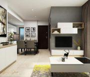 Thiết kế với không gian mở giúp chung cư mini tiết kiệm diện tích vô cùng hiệu quả.