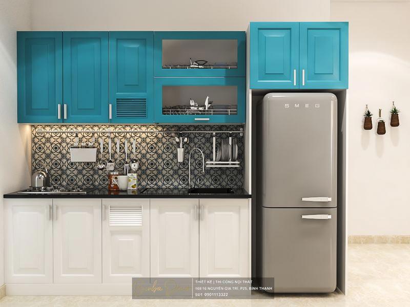 thiết kế phòng bếp căn hộ