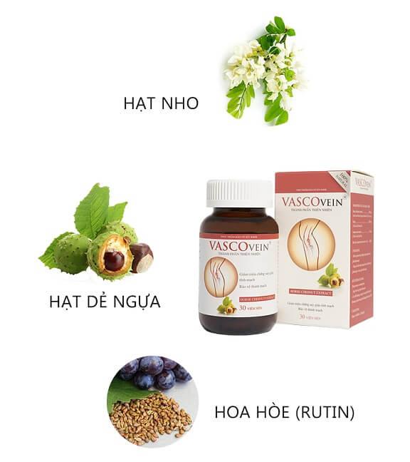 Các thành phần có trong viên uống vascovein