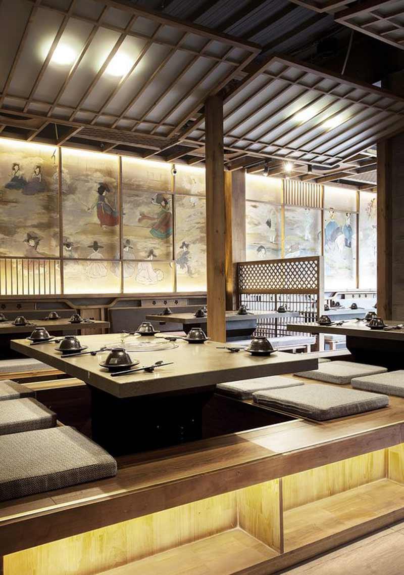 tiêu chí thiết kế nhà hàng kiểu Hàn